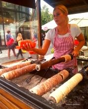 Prague - Making Trdelník