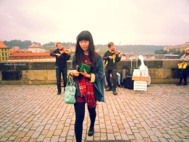 Prague - Charles Bridge Asian Girl