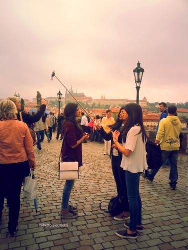 Prague - Charles Bridge Selfie
