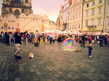 Prague - Kids and Bubbles