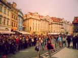 Prague - People Waiting the Astronomical Clock