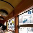 The tram in the mirror