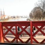 The bridge from the tram