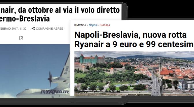 Wroclaw diretti a Napoli e Palermo